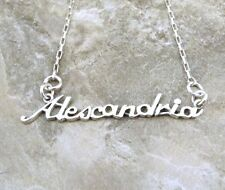 Sterling Silver Name Necklace -Alexandria -on Drawn Box Necklace -1278