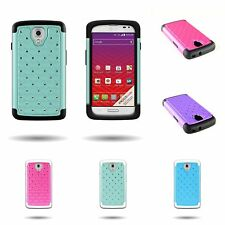 Hybrid Diamond Bling Case Hard Soft Protective Cover for LG Volet / Optimus F90