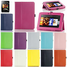 "For 2012 Amazon Kindle Fire HD 7"" Folio PU Leather Flip Stand Case Smart Cover"