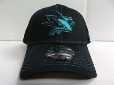 San Jose Sharks Cap New Era 39Thirty Stretch Fit Fitted Black Neo Mesh Hat