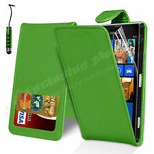 Leather Wallet Flip Case Cover For Nokia Lumia 925 Free Screen Protector