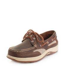 MENS SEBAGO CLOVE HITCH II WALNUT EATHER CLOVEHITCH DECK BOAT SHOES SIZE 6-11.5