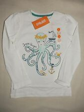 Gymboree CAPE COD CUTIE White L/S Free Hugs Octopus Tee Shirt Top NWT 4 5 6 7