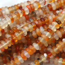 Wholesale Natural Carnelian Red Agate Rondelle Stone Jewelry Loose Beads 3x6mm