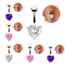 Women  Navel Ring Belly Button Bar Love Heart Star Body Piercing Jewelry