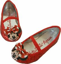 NEW DISNEY MINNIE MOUSE GLITTERED COSTUME GIRLS SHOES SIZE 13/1 2/3