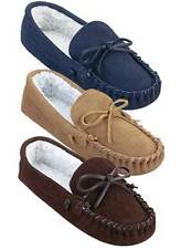 *NEW*Genuine Suede Mens Indoor Moccasins in Brown/Tan/Navy/Several Popular Sizes