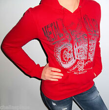 New METAL MULISHA MAIDENS Red MOTO X LOGO Hooded Sweatshirt HOODIE S M L