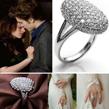 Ladies Fashion Crystal Rhinestone Silver Ring Wedding Engagement Alloy Ring Gift