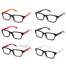 Clear Lens Glasses Men Women Unisex Classic Non Prescription Lens 2-Toned Color