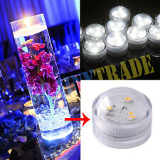 50PCS LED Submersible Waterproof Round Candle Lights Tea Candles White 3 SMD LED