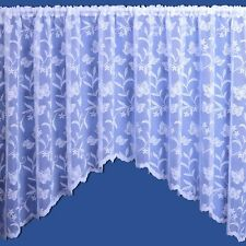 MEADOW BUTTERFLY JARDINIERE NET CURTAIN AVAILABLE IN VARIOUS WIDTHS AND DROPS