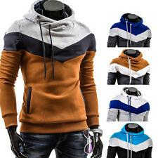 Men's Slim Pullover Hoodie Warm Fleeces Hooded Sweatshirt Coat Sweater Outwear