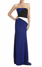 NEW BCBG MAX AZRIA AUDRIANNA STRAPLESS COLOR-BLOCKED GOWN $448