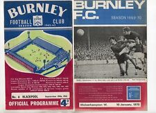 Burnley 1962/63 to 1969/70 HOME programmes choose from list FREE UK P&P