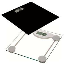 Glass Digital LCD Bathroom Platform Weighing Scales Electronic KGs Pounds Weight