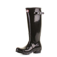 Hunter Original Tall Black Gloss Wellies Wellington Boots Size 3-8
