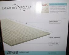 King MATTRESS PAD by Memory Foam 7 ZONE FOR COMFORT