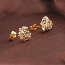 Fashion Jewelry Stunning Chic 18k Gold Plated Crystal Ear Stud Earrings Hot J92