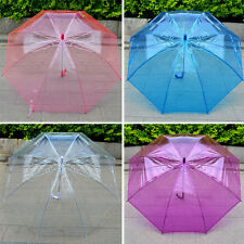 Women Design Transparent umbrella Long-handled umbrella Thicken dance props gift