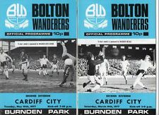 Bolton Wanderers HOME programmes 1976/77 choose from list FREE UK P&P