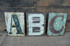 CHOOSE LETTER Metal Distressed ~A B C D E F G H I J K L ~ SIGN LETTER WALL DECOR