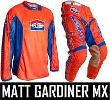 JT RACING CLASSICK MOTOCROSS MX KIT PANTS JERSEY ORANGE BLUE RETRO EVO PRO TOUR