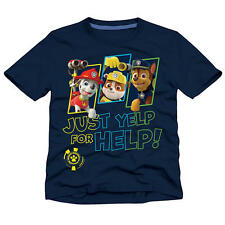 "Nickelodeon Boys Navy Paw Patrol ""Just Yelp for Help!"" Short Sleeve Graphic T Sh"