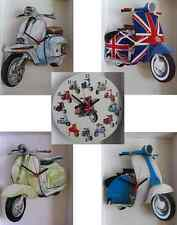 CLASSIC LAMBRETTA SCOOTER  WALL CLOCK.NEW & BOXED.5 DESIGNS TO CHOOSE FROM.