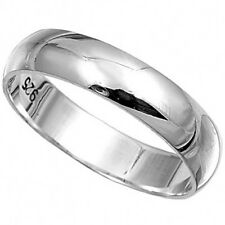 PLAIN BAND THUMB RINGS 4mm Wide - 925 STERLING SILVER  IN SIZES T,U,V,W,X,Y