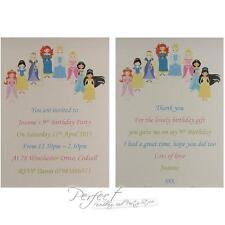 10 Personalised Disney Princess Birthday Party Invitations Or Thank You Cards