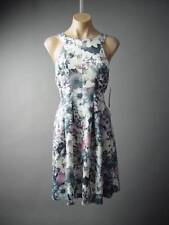 Vtg-y Floral Print Ladylike Pleated Flared Skirt Spring Party 125 mv Dress S M L