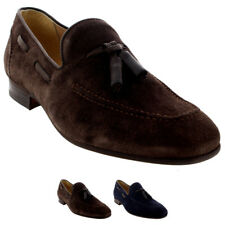 Mens H By Hudson Pierre Suede Smart Slip On Work Loafers Tassel Shoes UK 6-12
