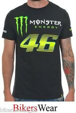 VR46 Monster Energy Monza Black Valentino Rossi T-Shirt Casual Top Size S-2XL