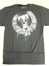 "TRIUMPH UNITED ""DEATH SKULL"" BRAND NEW AUTHENTIC BLACK MMA FIGHT T-SHIRT"