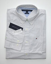 NWT Men's Tommy Hilfiger Casual Long-Sleeve Shirt, Gray, White, S, M, L, XL