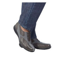 Clarks Bendables Leather & Nubuck BINGO Front Gored Shoes CHOICE QVC A199160 $75