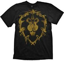 World of Warcraft Alliance Spray Logo Black Adult T-Shirt