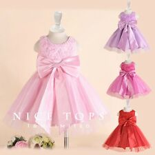 P176 Pink Princess Wedding Dance Party Flower Girls Dresses SZ AGE 2 to 12 Years