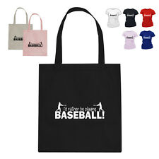 I'D RATHER BE Baseball Player Gift Cotton Tote Bag HW