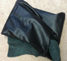 Leather Hide Hides Cowhide Upholstery Craft Fabric Black A4