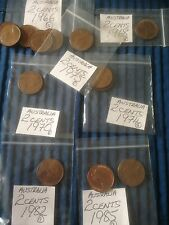 Australia 2 Cents Coins  All Good Condition Australian Two Cent