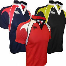 Canterbury Landsdowne Short Sleeved Rugby Jersey Top Kids CCC New
