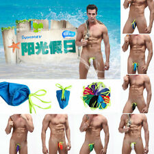 Men's Cool Sexy G-string Underwear Bag Bikini Swim Thong strapless Swimwear