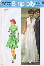 1970s GREEK GODDESS EVENING GOWN OR DRESS - Simplicity 6672, Misses' 8 or 12