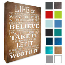Inspirational Wall Picture Life Is Too Short Wall Art Decor Canvas print A1/A2+