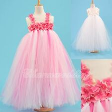 Girls Kids Princess Flower Girl Dress Wedding Bridesmaid Party Pageant TUTU NEW