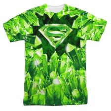 Superman Skyptonite Symbol DC Comics Licensed Sublimation Poly Adult Shirt S-3XL