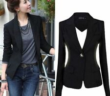 Fashion Women's One Button Slim Casual Business Blazer Suit Jacket Coats Outwear