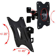 "Swivel Tilt TV Monitor Wall Mount Bracket 19 22 24 26 27 29 32 37 39 40"" LED LCD"